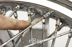 04 Harley Sportster Front 21x2.15 Rear 16x3.00 Wheel Rim Set CHROME 90-SPOKE