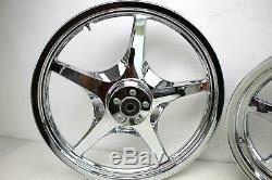 05 HARLEY DYNA WIDE GLIDE FXDWG Front Rear Rim Wheel 5 Spoke CVO Thunderstar 21