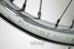 07 HARLEY FXD DYNA SUPER GLIDE Front Rear Rim Wheel Smooth Profile Spoke Set