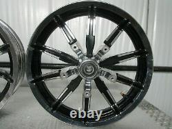 09-20 Harley Davidson Touring Impeller 10-Spoke Front & Rear Wheel Set