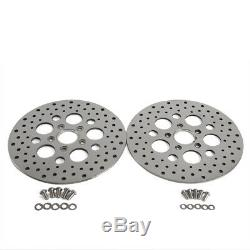 11.5 Brake Rotor Front & Rear Super Spoke SS Round Hole Disc For Harley Touring