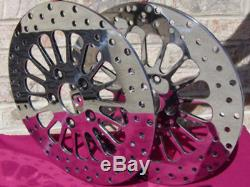 11.5 Front & Rear Dna Super Spoke Rotors Free Bolts Harley Softail Dyna 00 & Up