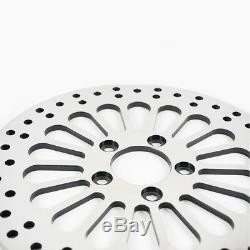 11.8 Front & Rear Chrome Disc Brake Rotor For 08-13 Harley Super Spoke Polished