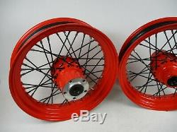 12-17 Victory HighBall 16x3.5 Front Rear Wheel Rim Hub Spokes 1522402 1522404