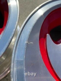 15 Vintage Wheels Rims Alloy Ar-39 American Racing 4 Lug 4x108 4x4.25 Red
