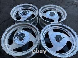 15 Vintage Wheels Rims Alloy Mag American Racing Tri Spoke Blade