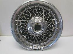 15 Wire Spoke Hubcap Wheel Covers GM General Motors Set of 4 RARE