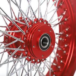 16 3.5 Front Rear Spoked Wheels Set for Harley Sportster Dyna Softail Touring