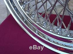 16 X 3.5 80 Spoke Front 7 Rear Billet Hub Wheel For Indian Chief Spirit 1999-03