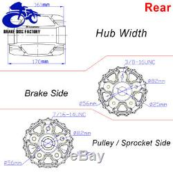 16 x 3.5 Chrome Fat Spoke Front Rear Wheel Rim Set for Harley Touring Softail