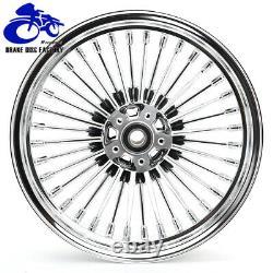 16 x 3.5 Fat Spoke Tubeless Front Rear Wheel Rim for Harley Softail FLST FXST