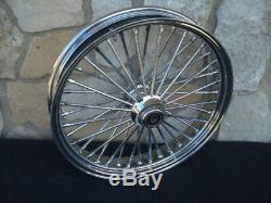16x3.5 Dna Fatty Mammoth 40 Spoke Front & Rear Wheel Set Harley Softail Heritag