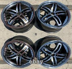 18 Black Wheels Rims Chrome Lip Oe Factory