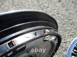 1965 1966 Chevy Chevelle Corvair 14 inch wire spoke spinner hubcaps wheel covers