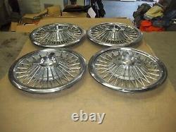 1965 65 1966 66 Mercury Hubcap Rim Wheel Cover Hub Cap 15 WIRE SPOKE OE SET 978