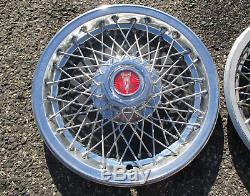 1977 to 1981 Pontiac Bonneville Firebird wire spoke 15 inch hubcaps wheel covers