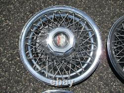1978 to 1985 Buick Lesabre Estate wagon 15 inch wire spoke hubcaps wheel covers