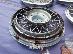 1981-87 Oldsmobile Cutlass Supreme Nos 14 Wire Spoke Hubcaps Wheel Covers Set
