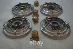 1986-1996 Chevrolet Caprice 15 Wire Wheel Cover Spoke Hub Cap Nos Gm 10201261