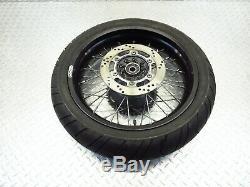 1992 89-95 Kawasaki KLR650 KL650 SUNRIM Black Spoked Front Rear Rims Rim