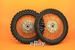 1999 96-00 RM125 RM250 OEM Front Rear Wheel Set Hub Rim Spokes Tires Complete