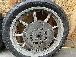 1999 And Down 19 Front 16 Rear Harley Davidson 9 Spoke Mag Wheels FXR Dyna