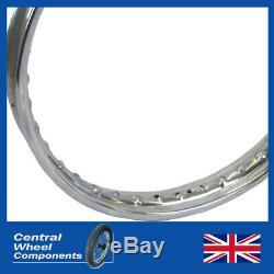 19 WM1 BSA Bantam D1 & D3 Stainless Wheel Rim & Spokes Set Front & Rear Included