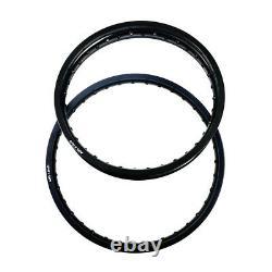 1.60x21 Front 2.15x18 Rear Wheel Rims 36 Spoke Holes Black For Honda Suzuki KTM