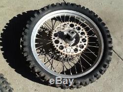 2000 00 YZ125 YZ250 Excel Front Rear Wheel Complete Hub Rim Spokes Rotors Wheels
