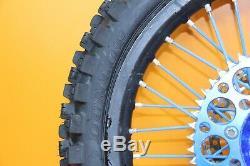 2006 02-08 YZ250 YZ125 Front Rear Wheel Set Blue / Black Hub Rim Spokes Rotor
