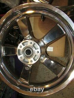 2008-2021 Harley Sportster XL1200C 5 spoke Chrome Rims 16 x 3 front & rear (NTO)