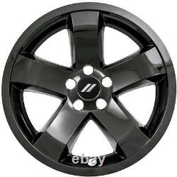 2009-2014 Dodge Challenger # IMP355BLK 18 5 Spoke Gloss Black Wheel Skins SET/4