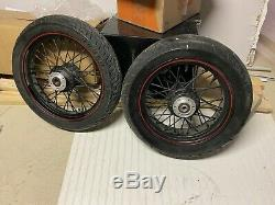 2010-17 Victory XC XR Hardball Used Front & Rear Spoke Wheel and Tire Set