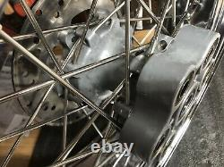 2010 Ducati Sport Classic GT1000 Front/Rear Chrome Wheels Stainless Spokes