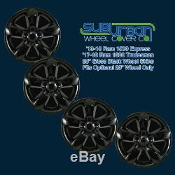 2013-2018 Ram 1500 # 2237GB 20 5 Spoke Gloss Black Wheel Skins NEW SET 4