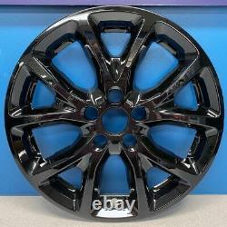 2014-2018 Jeep Cherokee Latitude # 7913-GB 17 5 Y Spoke BLACK Wheel Skins SET/4