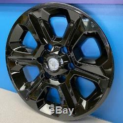 2014-2019 Toyota 4Runner # 7751G-B 17 6 Spoke Gloss Black Wheel Skins NEW SET/4