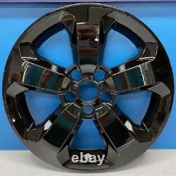2018-2020 Jeep Compass Latitude # 7017GB 17 5 Spoke Gloss Black Wheel Skins SET