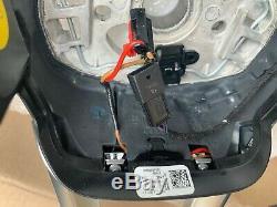 2018 Audi Q5 Black Leather 3-spoke Steering Wheel Assembly Switch Unit New Oem