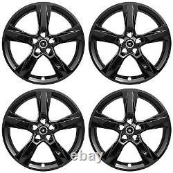 20 5 Spoke Gloss Black Wheel Skins for 2016-2018 Chevy Camaro LS/LT/SS