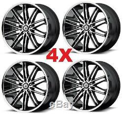 20 Asanti Wheels Rims Black Machined 5x127 Lexani Forgiato