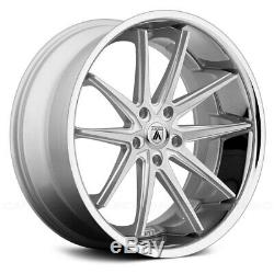 20 Asanti Wheels Rims Silver Brushed 5x127 Lexani Forgiato