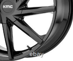 20 Black Wheels Rims Kmc Lexani Giovanna