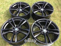 20 Factory Genuine BMW 5 & 7 Series M Double Spoke Wheels Rims 20 Satin Black