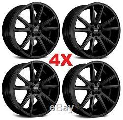20 Matte Black Wheels Rims 5x115 Oe Replicas