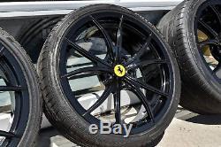 20 OEM Ferrari 458 Rare optional multi-spoke lightweight wheels with tires