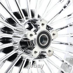 21X3.5 & 16X3.5 Front Rear 36 Fat Spoke Tubeless Wheel Rim For Dyna Softail FLST