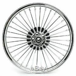 21 & 16 Front Rear Cast Wheels Double Disc Fat King Spoke Softail Touring Dyna