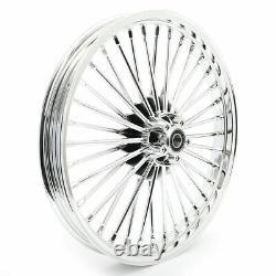 21 & 16 Front Rear Cast Wheels Single Disc Fat King Spoke Softail Touring Dyna