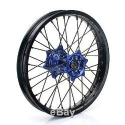 21/18 Complete Enduro Spoked Wheels Rims Set Hub Fits YAMAHA YZ250F YZ450F 09-19
